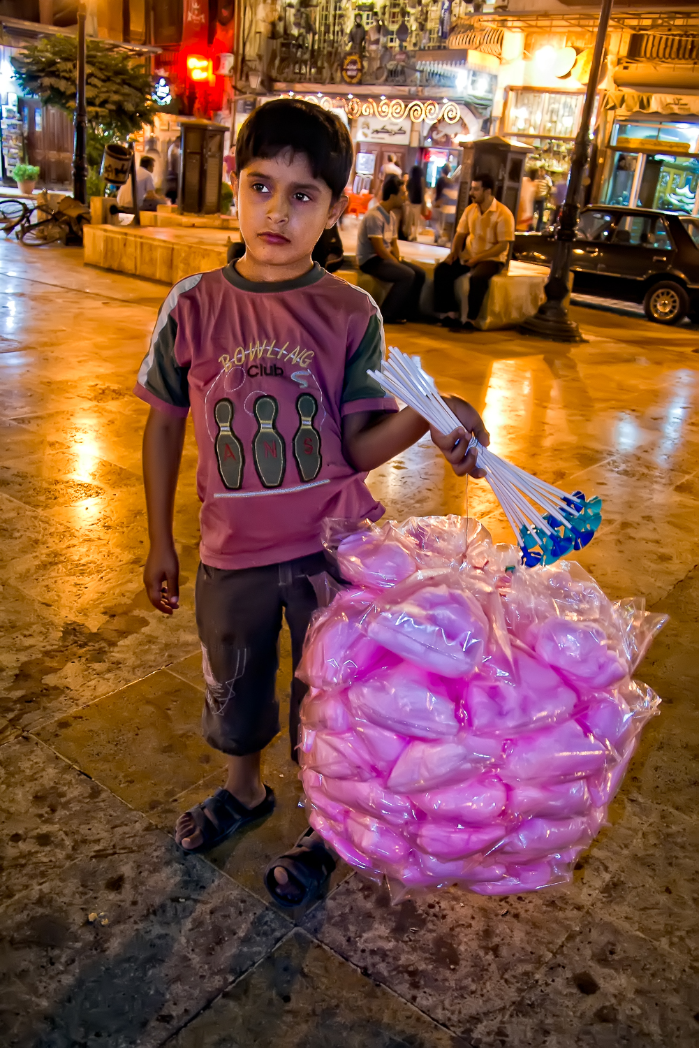 Little street vendor