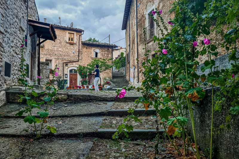 Daily summer life in a mountain village