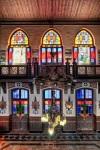 L' interno della stazione Hedjaz, con la sua architettura goticheggiante e tipicamente europea