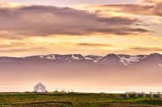 Sunset at Skjalfandi Bay
