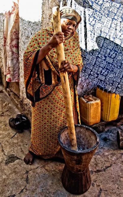 La preparazione del latte di cocco # 2