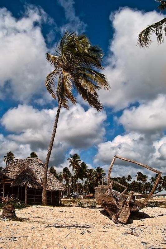 Spiaggia e capanne