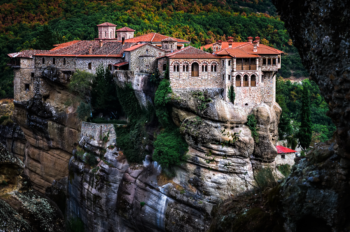 Varlaam monastery as seen from Great Meteora