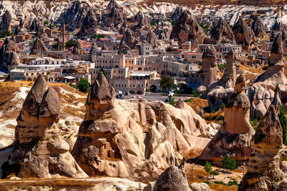 The town among the fairy chimneys