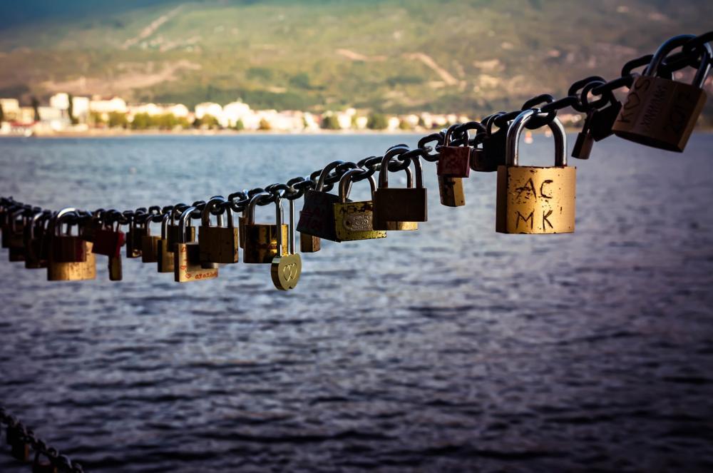 Ohrid love padlocks