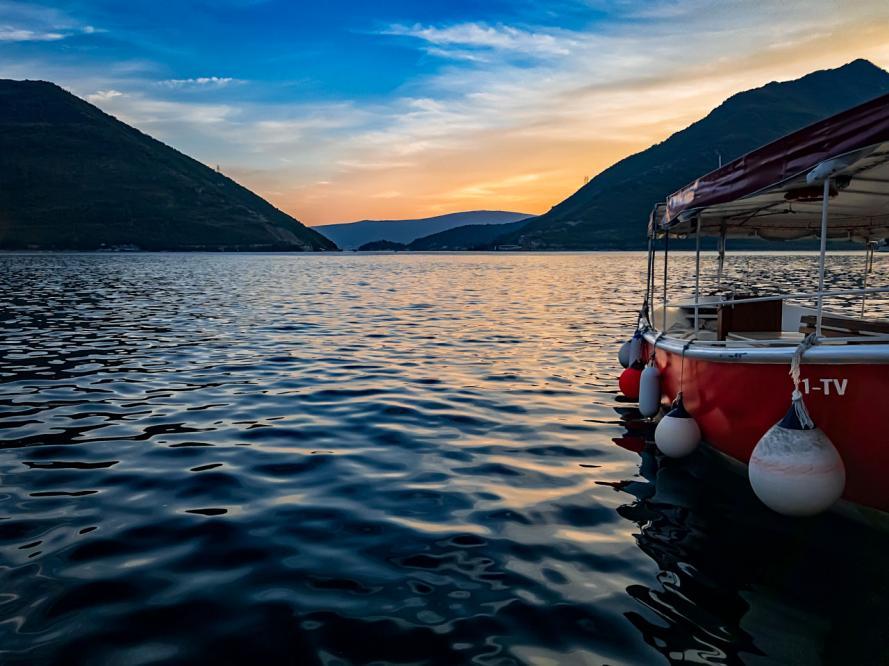 Peaceful evening, Kotor Bay