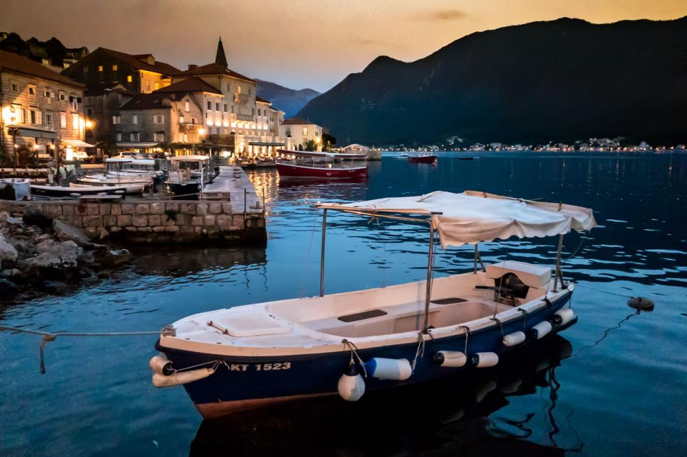 Perast evening