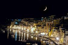 Moon over Corricella 1