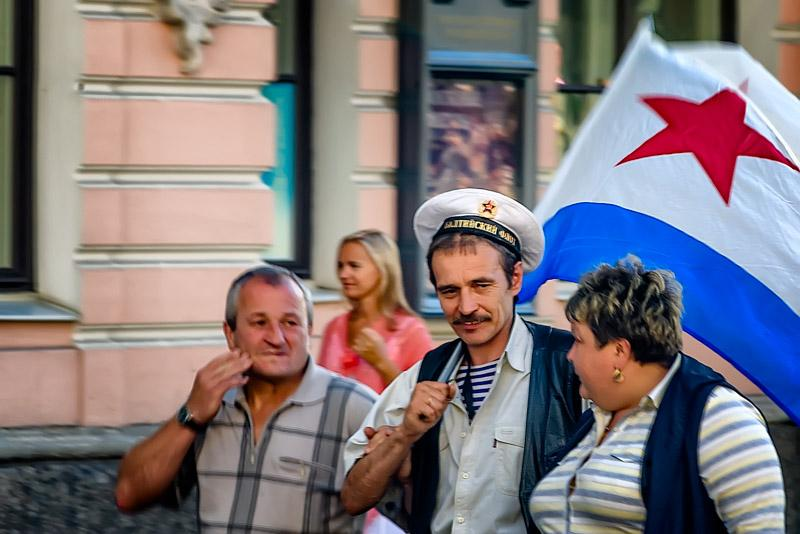 Russian Navy day, last sunday of Jukly. Saint Petersburg is one of the headquarters of the ruassian Baltic Fleet.