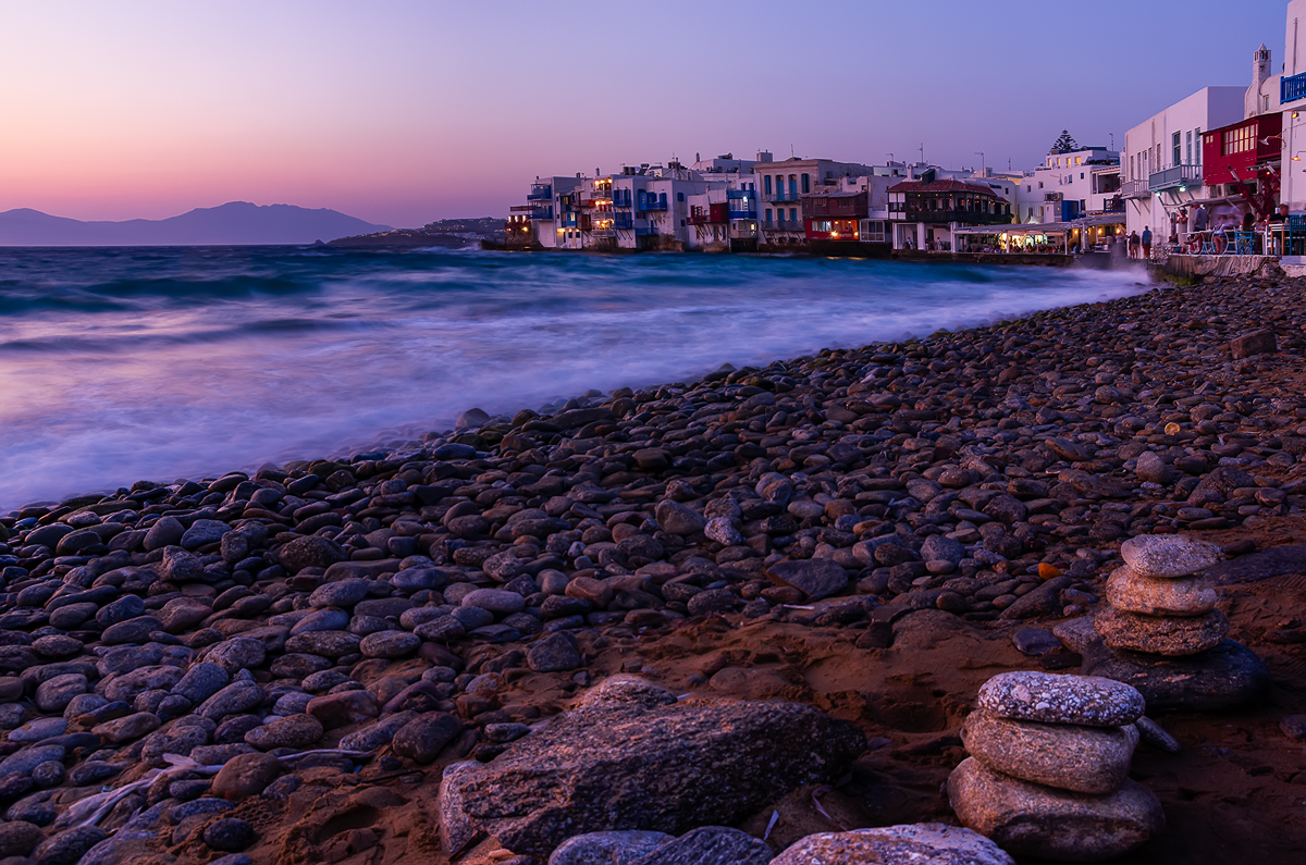 Little Venice at dusk - Mykonos