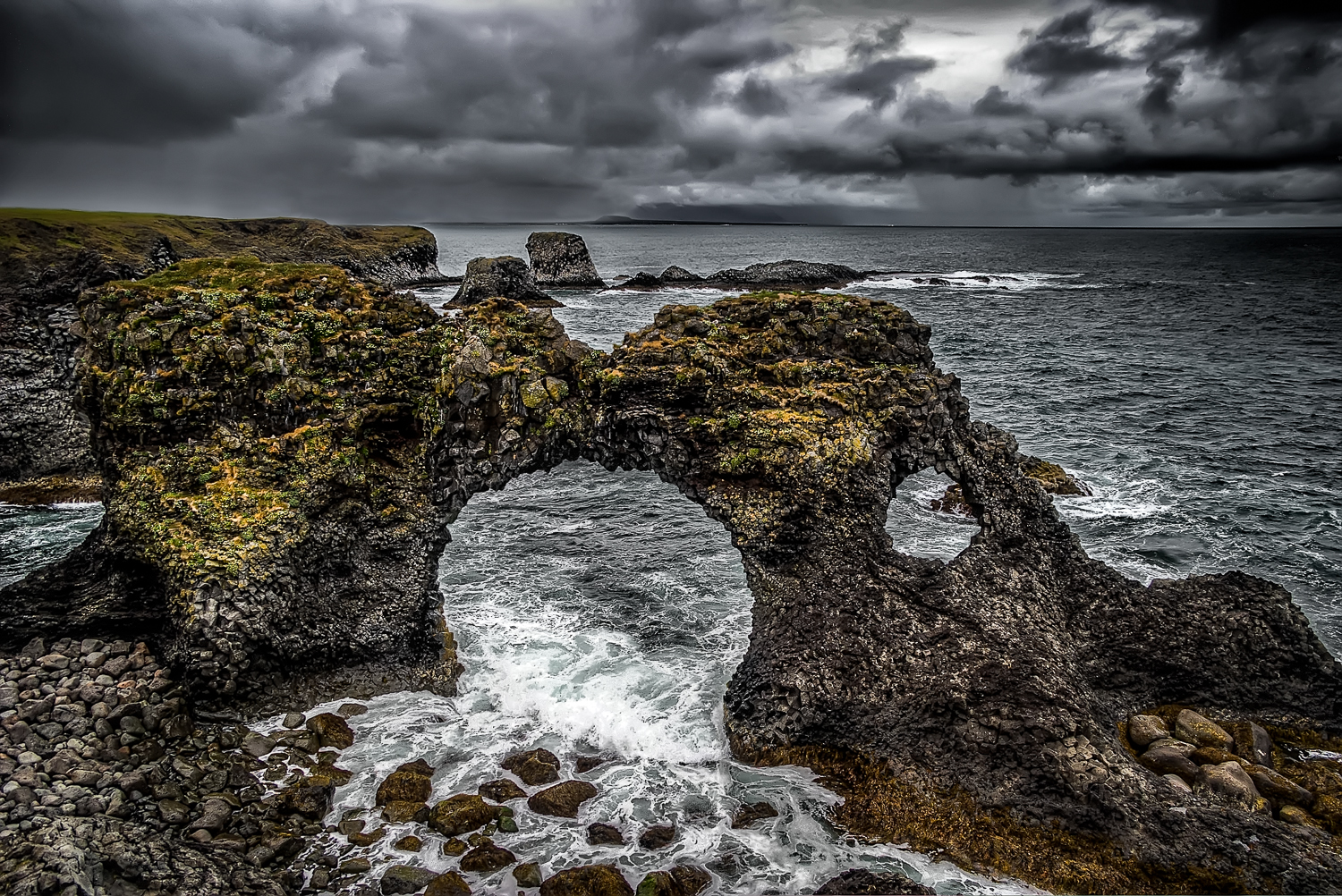 Stormy Hellnar view, Iceland