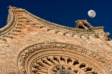 Gothic and the moon, Ostuni, Italy