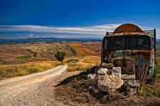 The truck, Toscana, Italy