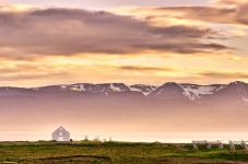 Sunset at Skjalfandi Bay, Iceland