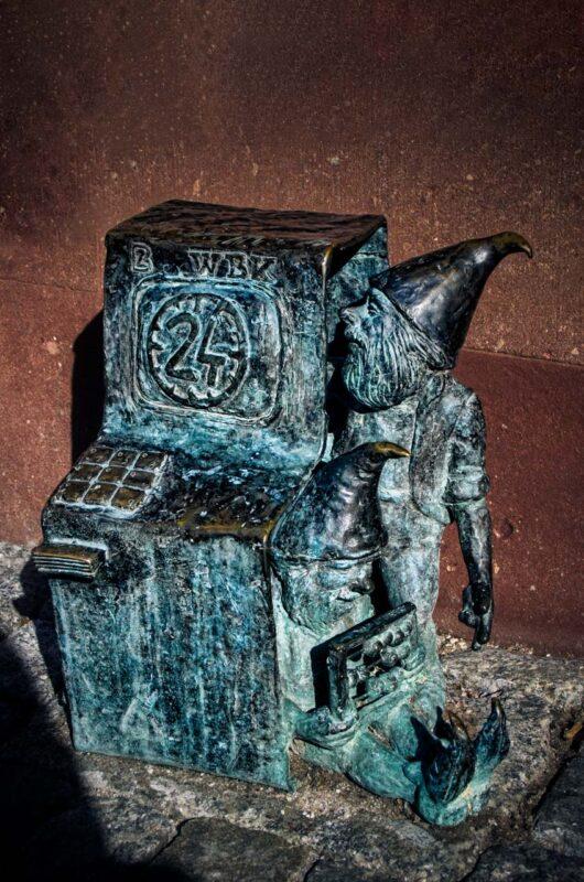 Bankomatsky dwarf Wroclaw Polonia Poland