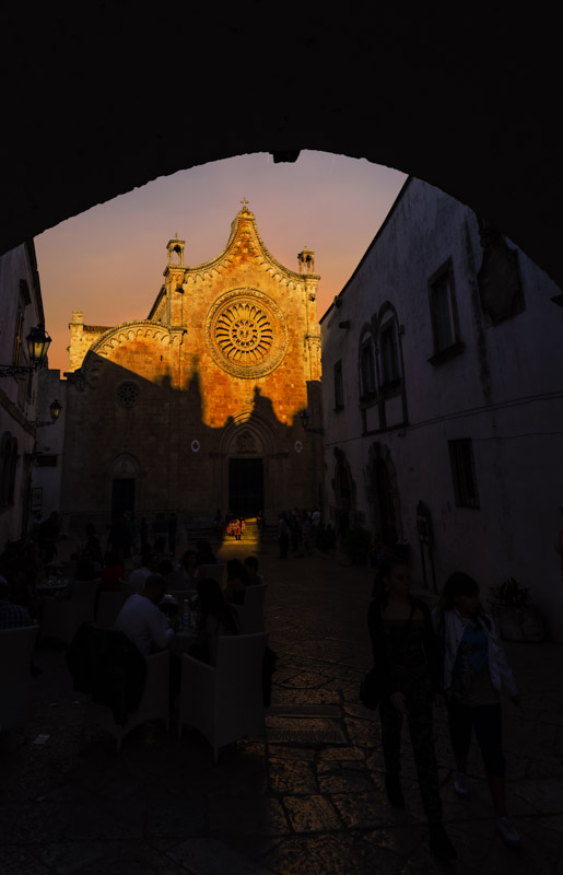 Five Amazing towns in Apulia -Ostuni cathedral at sunset