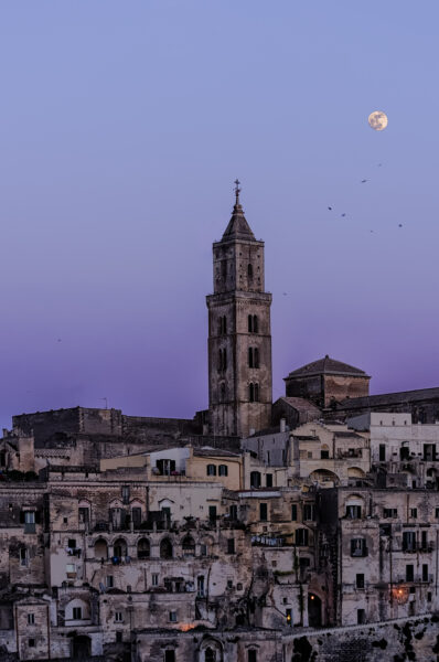 Purple sunset in Matera
