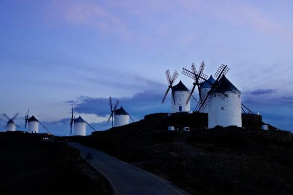 Windmills of La Mancha -Consuegra Windmills at dusk