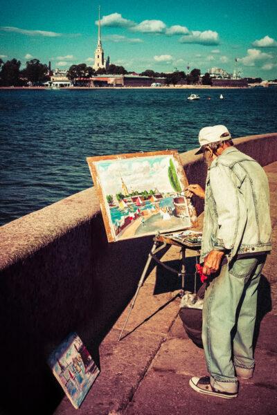 San Pietroburgo Dipingendo dalla Strelka