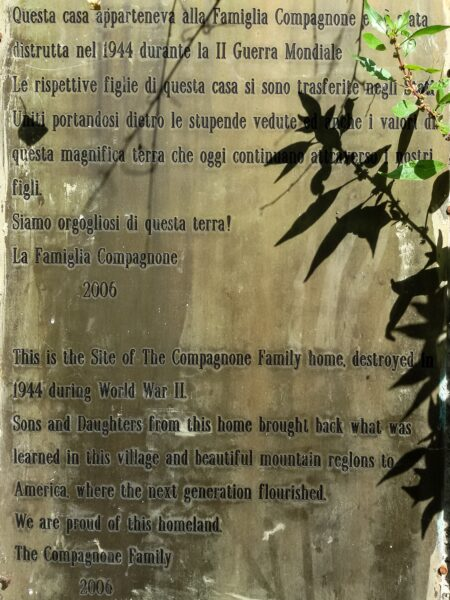 San Pietro Infine Memorial Plaque Casa Compagnone