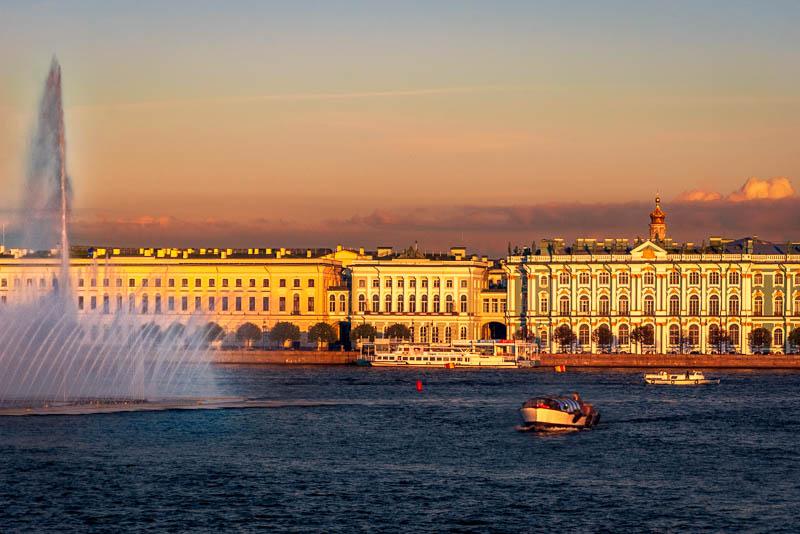 Neva embankment Saint Petersburg