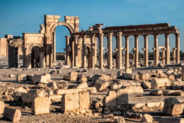 Palmyra ruins before the civil war