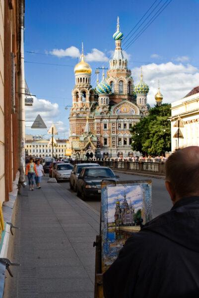 Artistic view Saint Petersburg