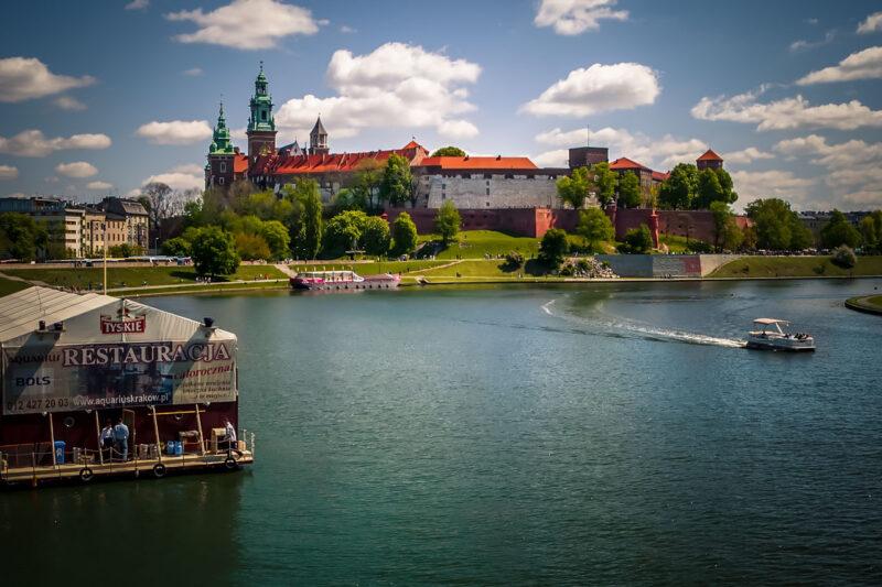 Wawel castle and the Vistula river