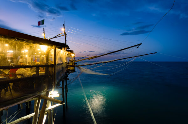 Trabocchi: the tailspin of the giant spiders jetting on the sea - Like a ship sailing away - Trabocchi of Abruzzo - Restaurant
