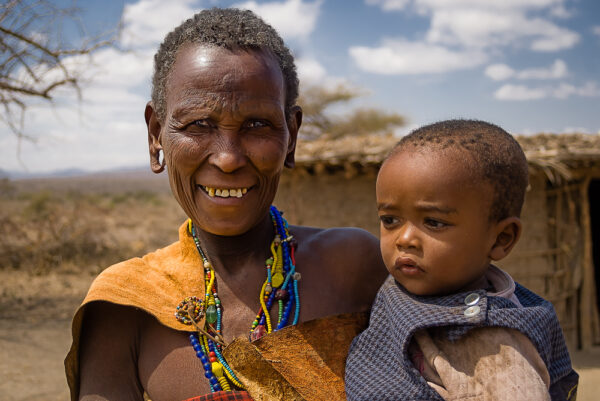 Visiting Datooga of Tanzania Grandma and nephew