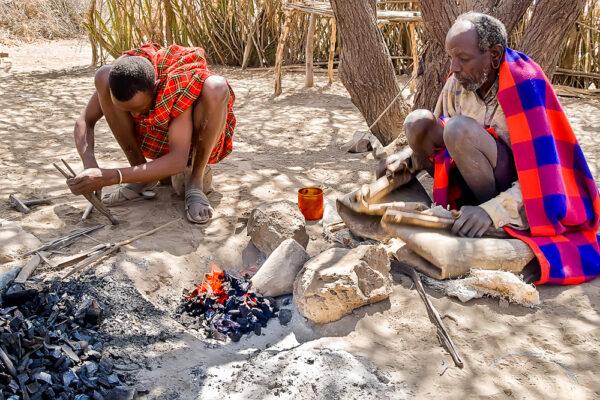 Visiting Datooga of Tanzania Datooga blacksmith