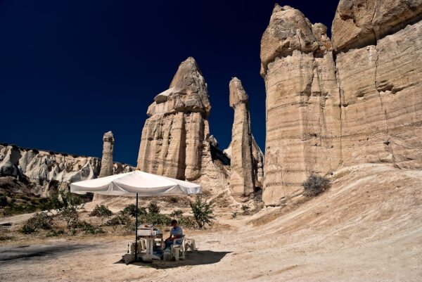 Il venditore nel nel nulla Cappadocia