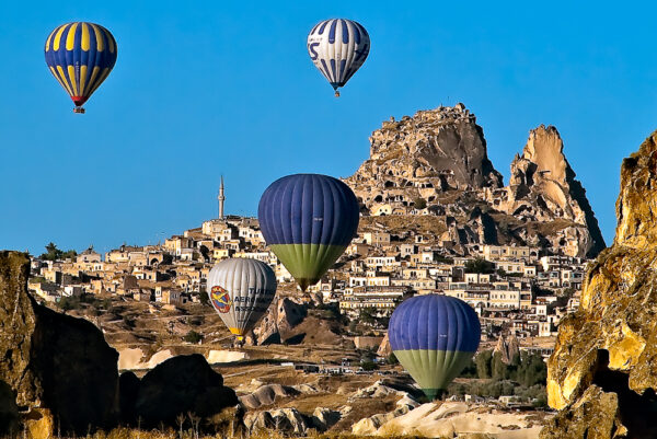Uchisar con mongolfiere Cappadocia