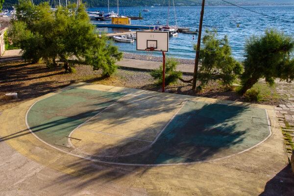 Basketball court on the sea Kurcola