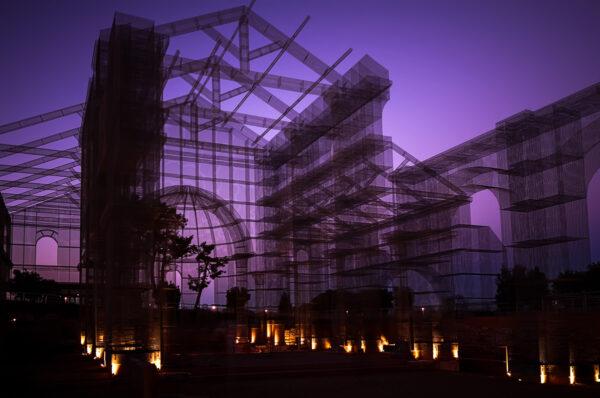 La (sostenibile) leggerezza del ferro. Basilica al crepuscolo - Siponto - Tresoldi