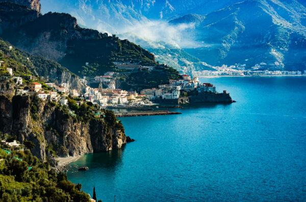 Amalfi vista da Conca dei Marini