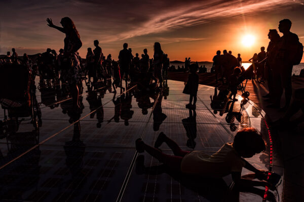 Crowd at Greetings to the sun, Zadar