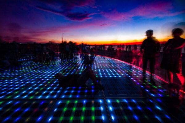 Zadar psychedelic sunsets Zara Saluto al sole