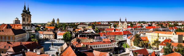 Eger panorama, view from the Castle