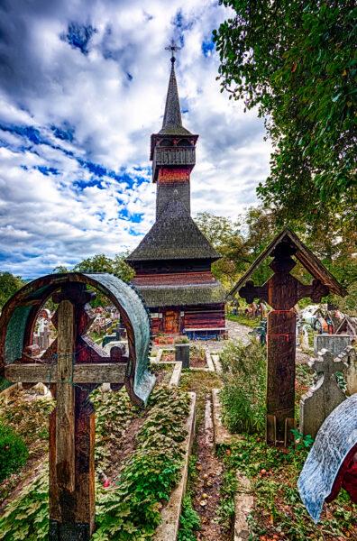 Ieud wooden church Maramures Romania