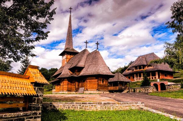 Botiza wooden church Maramures Romania