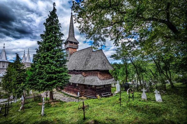 Poienile Izei wooden church Maramures Romania