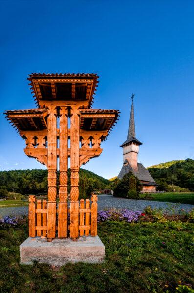 Barsana wooden church modern Romania Maramures