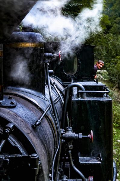 Mocanita Locomotiva e macchin sta