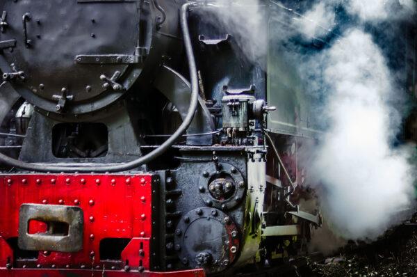 Mocanita locomotive and steam