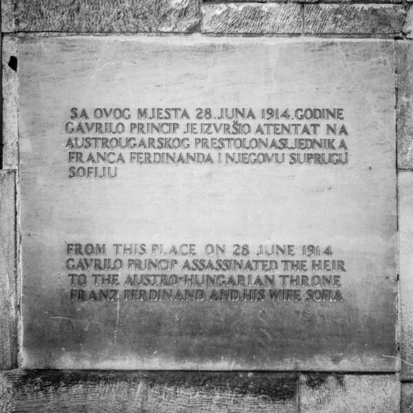 Where it all began Gavrilo Princip slab, Sarajevo