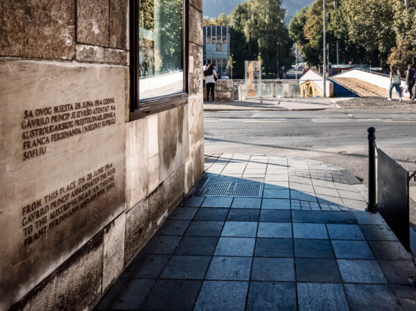 Where it all began Crossroad of Sarajevo, place of the assassination of Franz Ferdinand by Gavrilo Princip