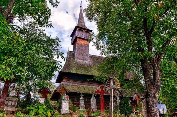 Maramures Romania Ieud wooden church UNESCO Heritage