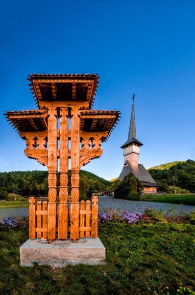 Barsana Romania Maramures Wooden church Carved Wood Monument