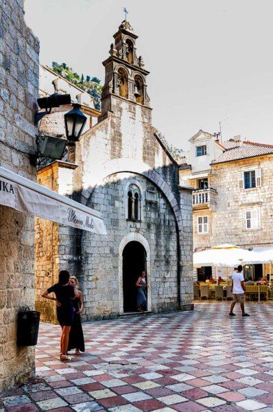Angolo del centro storico di Cattaro